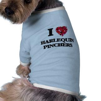 Amo las tenazas del Harlequin Camisetas De Perro