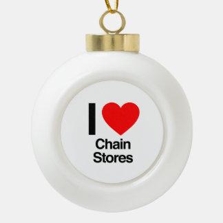 amo las tiendas de cadena adornos