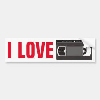 Amo las videocintas pegatina para coche