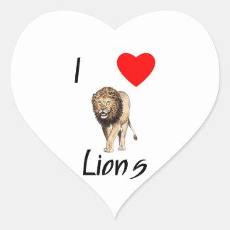 Amo leones 2 pegatina corazon personalizadas