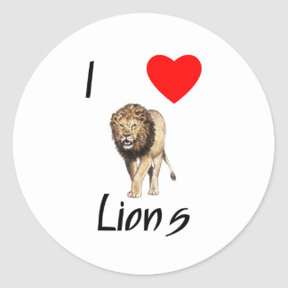 Amo leones (2) pegatina redonda