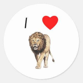 Amo leones (3) pegatina redonda