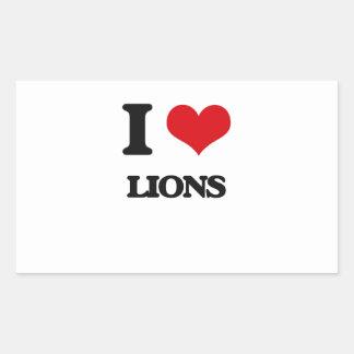 Amo leones rectangular altavoz