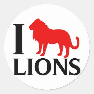 Amo leones pegatinas