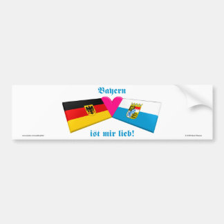 Amo lieb de los ist MIR de Baviera/de Baviera Pegatina Para Coche