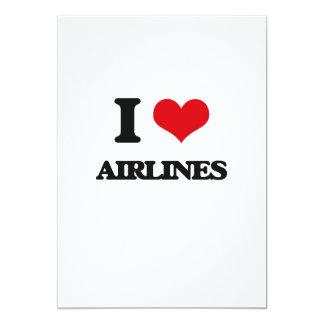 Amo líneas aéreas invitacion personalizada