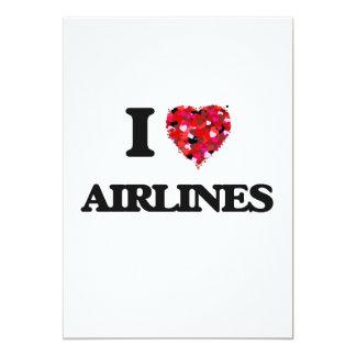 Amo líneas aéreas invitación 12,7 x 17,8 cm