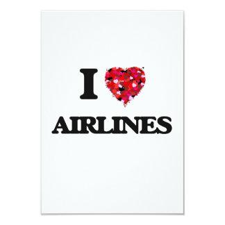 Amo líneas aéreas invitación 8,9 x 12,7 cm