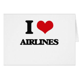 Amo líneas aéreas felicitación