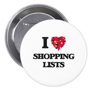 Amo listas de compras chapa redonda 7 cm