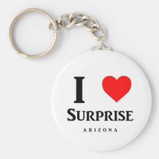 Amo llavero del logotipo de la sorpresa