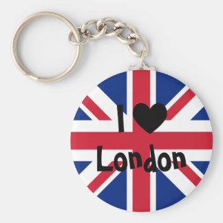 Amo Londres Llavero Redondo Tipo Chapa
