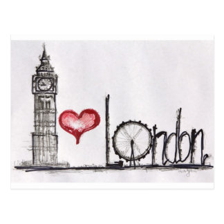 Amo Londres Postales