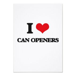 Amo los abrelatas invitación 12,7 x 17,8 cm