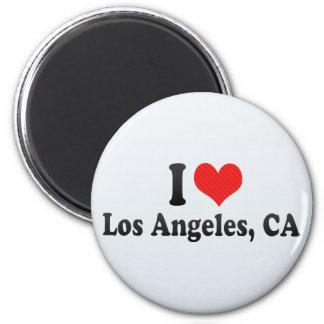 Amo Los Ángeles, CA Imán Redondo 5 Cm
