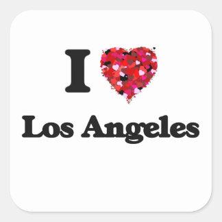Amo Los Ángeles Estados Unidos Pegatina Cuadrada