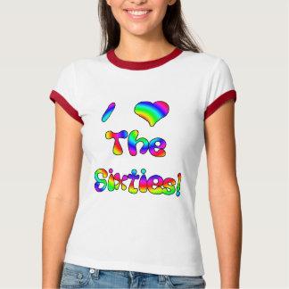 Amo los años 60 camisetas