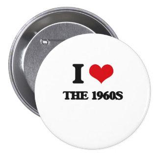 Amo los años 60 chapa redonda 7 cm