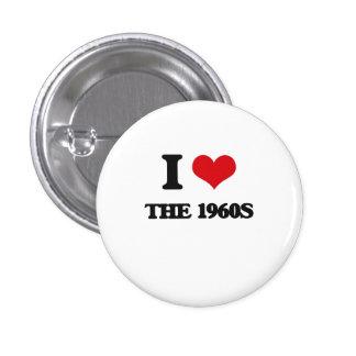 Amo los años 60 chapa redonda 2,5 cm