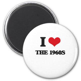 Amo los años 60 imán redondo 5 cm