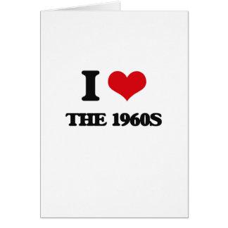 Amo los años 60 tarjeta de felicitación
