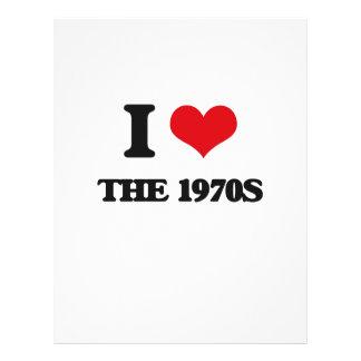 Amo los años 70 folleto 21,6 x 28 cm