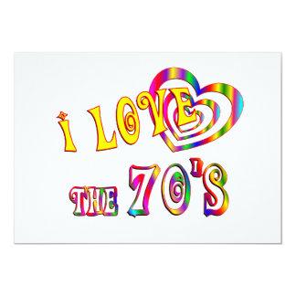 Amo los años 70 invitaciones personalizada