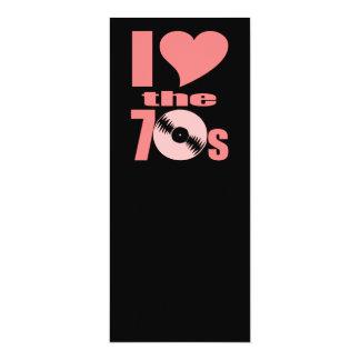 Amo los años 70 invitación 10,1 x 23,5 cm
