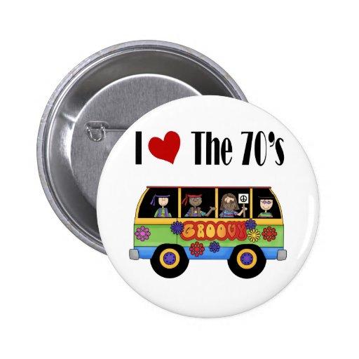 Amo los años 70 pin
