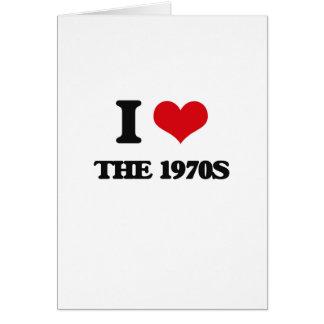 Amo los años 70 tarjeta de felicitación