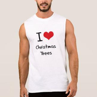 Amo los árboles de navidad camiseta sin mangas