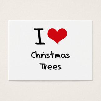 Amo los árboles de navidad tarjeta de negocios