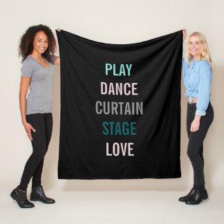 Amo los artes personalizo la manta del paño grueso