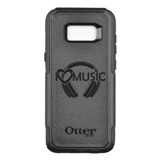 Amo los auriculares de la música funda commuter de OtterBox para samsung galaxy s8+