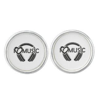 Amo los auriculares de la música gemelos