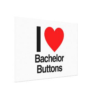 amo los botones del soltero impresiones en lona