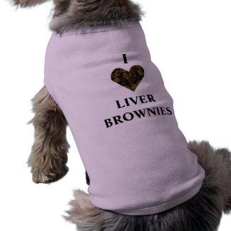 ¡AMO LOS BROWNIE DEL HÍGADO!!!! 2 CAMISETA SIN MANGAS PARA PERRO