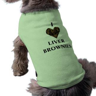 ¡AMO LOS BROWNIE DEL HÍGADO!!!! CAMISETA SIN MANGAS PARA PERRO