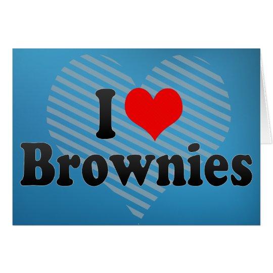 Amo los brownie tarjeta de felicitación