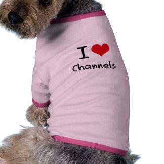 Amo los canales camisa de mascota