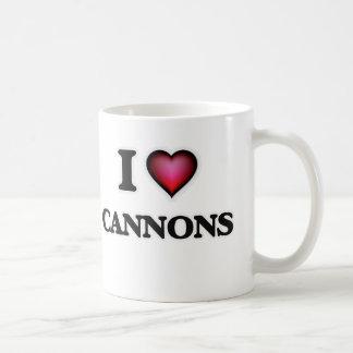 Amo los cañones taza de café