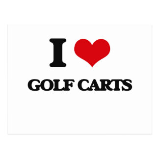 Amo los carros de golf postal