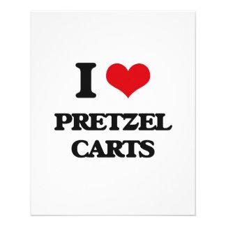 Amo los carros del pretzel folleto 11,4 x 14,2 cm