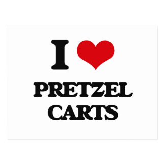 Amo los carros del pretzel postal