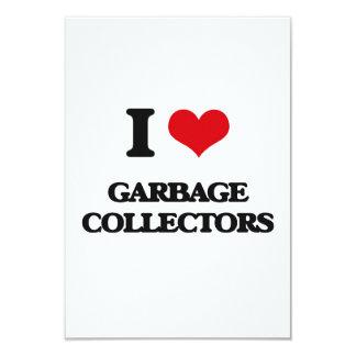 Amo los colectores de basura invitación 8,9 x 12,7 cm