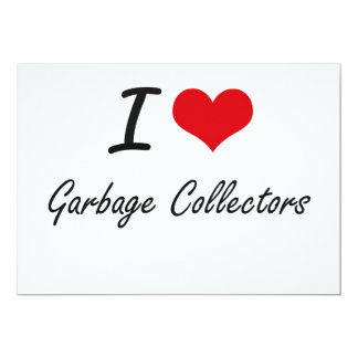 Amo los colectores de basura invitación 12,7 x 17,8 cm