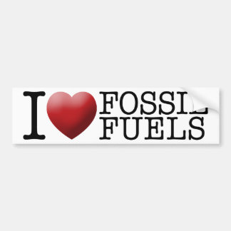 Amo los combustibles fósiles pegatina para coche