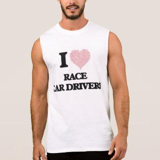 Amo los conductores de coche de carreras (el camisetas sin mangas