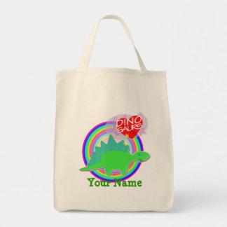 Amo los dinosaurios Dino verde su bolso conocido Bolsa Tela Para La Compra
