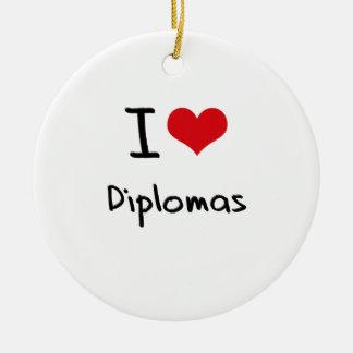 Amo los diplomas ornamento de reyes magos